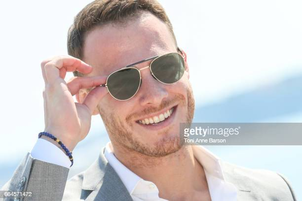 Kerem Bursin attends 'Heart Of The City' Photocall During MIPTV 2017 on April 3 2017 in Cannes France