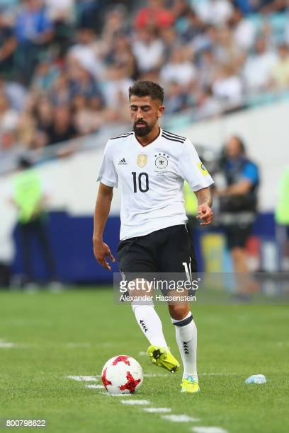Kerem Demirbay of Germany runs with the ball during the FIFA Confederations Cup Russia 2017 Group B match between Germany and Cameroon at Fisht...