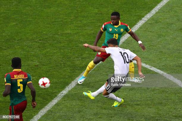 Kerem Demirbay of Germany scores his sides first goal during the FIFA Confederations Cup Russia 2017 Group B match between Germany and Cameroon at...