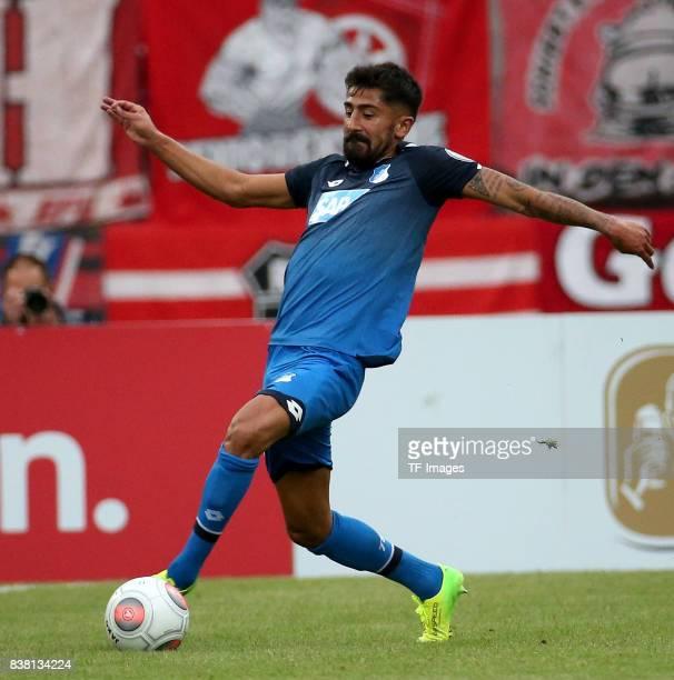 Kerem Demirbay of Hoffenheim controls the ball during the DFB Cup first round match between RotWeiss Erfurt and TSG 1899 Hoffenheim at...