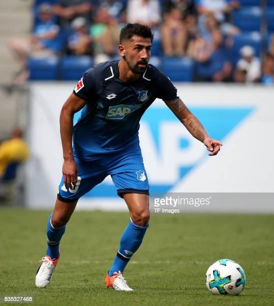 Kerem Demirbay of Hoffenheim controls the ball during the preseason friendly match between TSG 1899 Hoffenheim and FC Bologna on August 5 2017 in...
