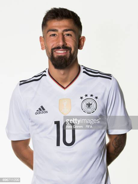 Kerem Demirbay poses for a picture during the Germany team portrait session on June 16 2017 in Sochi Russia