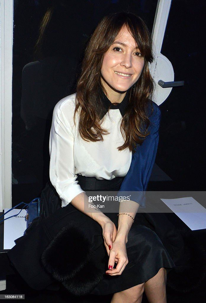 Keren Ann attends the Maxime Simoens - Front Row - PFW F/W 2013 at the Foyer des Lyceennes Dr Blanche on March 3rd, 2013 in Paris, France.