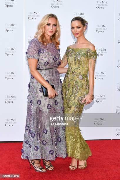 Keren Craig and Georgina Chapman attend the 2017 Metropolitan Opera Opening Night at The Metropolitan Opera House on September 25 2017 in New York...