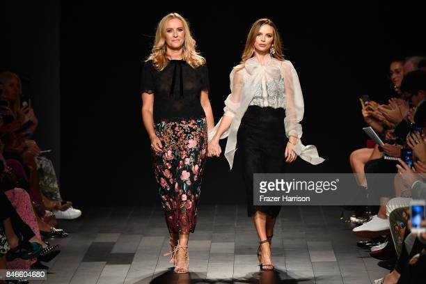 Keren Craig and Georgina Chapman walk the runway at the Marchesa fashion show during New York Fashion Week The Shows at Gallery 1 Skylight Clarkson...