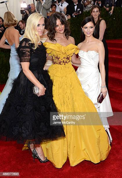 Keren Craig Katie Holmes and Georgina Chapman attend the 'Charles James Beyond Fashion' Costume Institute Gala at the Metropolitan Museum of Art on...