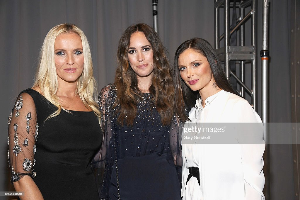 Keren Craig, <a gi-track='captionPersonalityLinkClicked' href=/galleries/search?phrase=Louise+Roe&family=editorial&specificpeople=4300958 ng-click='$event.stopPropagation()'>Louise Roe</a> and Georgina Chapman attend the Marchesa show during Spring 2014 Mercedes-Benz Fashion Week at New York Public Library on September 11, 2013 in New York City.