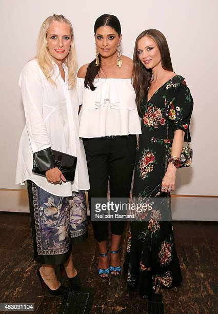 Keren Craig Rachel Roy and Georgina Chapman attend BALLY's 'Off the Grid' New York Premiere on August 5 2015 in New York City