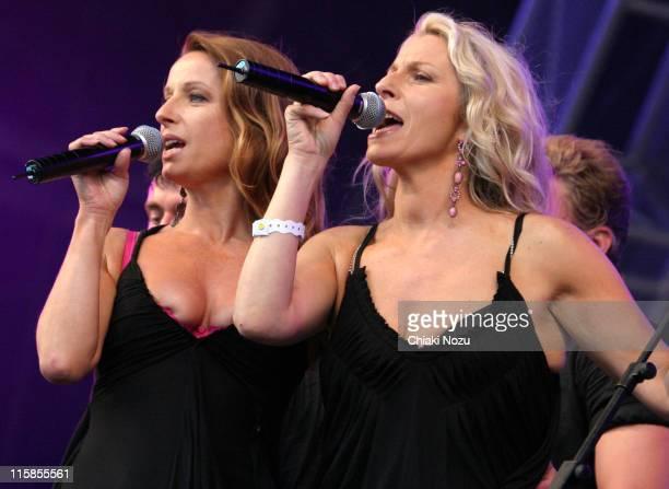 Keren Woodward and Sarah Dallin of Bananarama during 2005 Big Gay Out Concert at Finsbury Park in London Great Britain