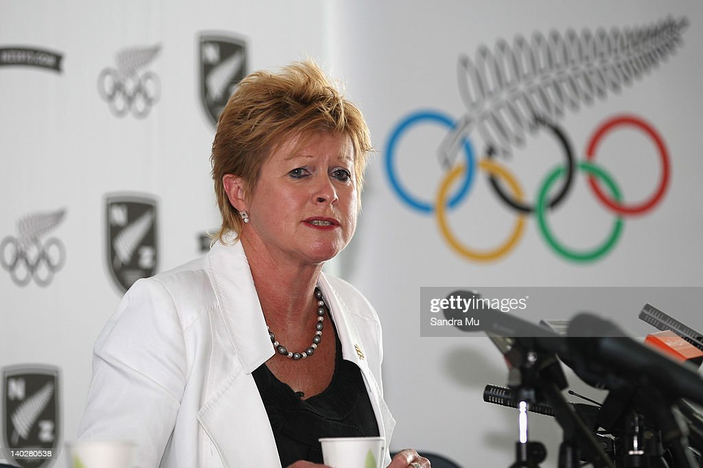 Kereyn Smith, Secretary General and selector of the New Zealand Olympic Committee speaks during a press conference to announce the New Zealand 2012 rowing team at Lake Karapiro on March 2, 2012 in Cambridge, New Zealand.
