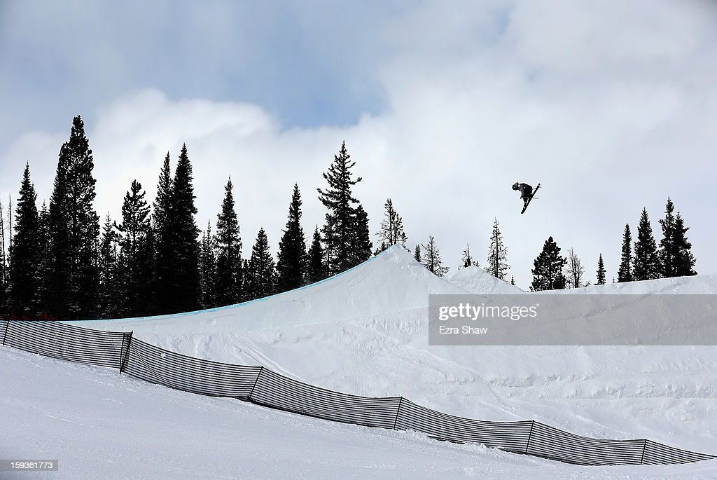 Keri Herman competes in the FIS Freestyle Ski World Cup ladies' slope style final at the U.S. Grand Prix on January 12, 2013 in Copper Mountain, Colorado. Herman won the event.
