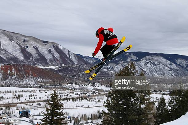 Keri Herman of the USA takes 2nd place during the Winter X Games Men's and Women's Ski Slopestyle on January 24 2015 in Aspen USA
