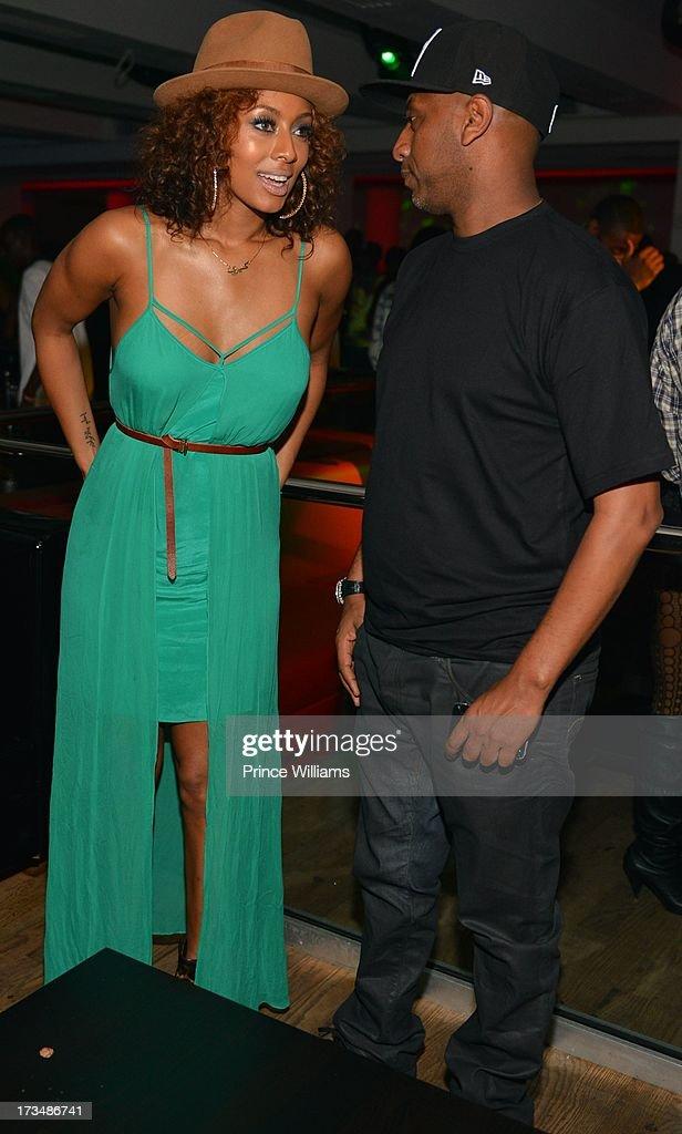 Keri Hilson and Alex Gidewon attend compound Nightclub on July 13, 2013 in Atlanta, Georgia.