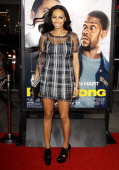 Keri Hilson arrives at the Los Angeles premiere of 'Ride Along' held at TCL Chinese Theatre on January 13 2014 in Hollywood California