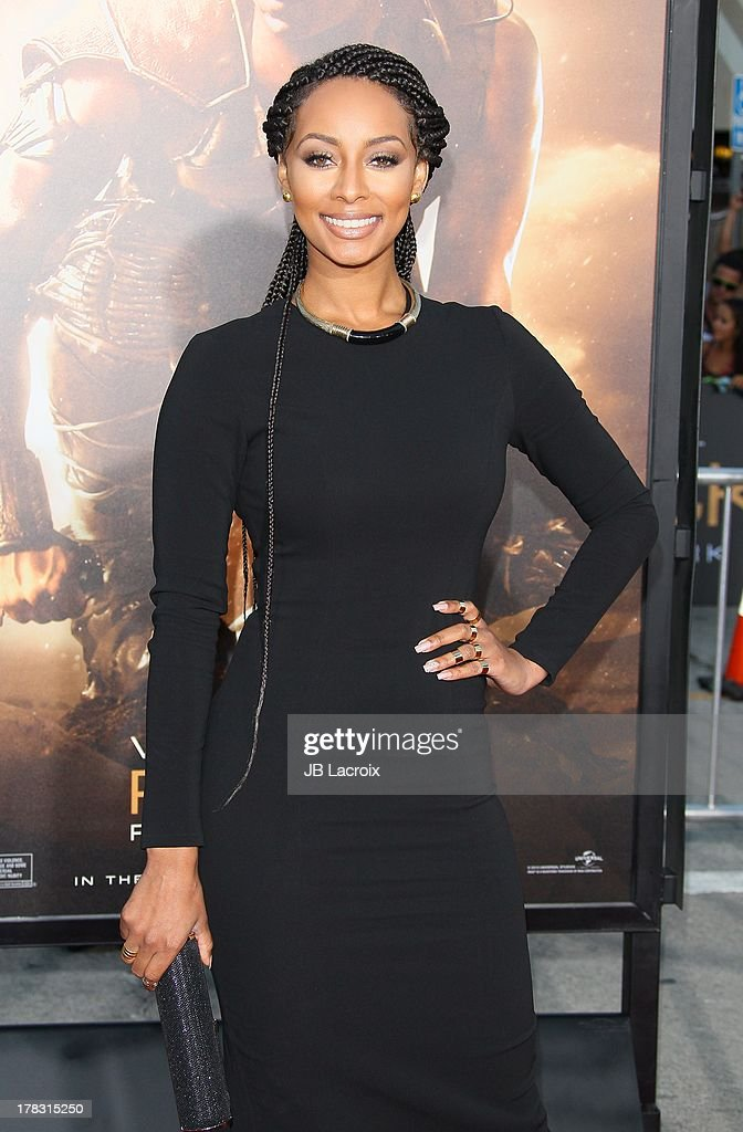 Keri Hilson attends the Los Angeles premiere of 'Riddick' at the Westwood Village Theatre on August 28, 2013 in Westwood, California.