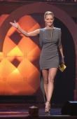 Keri Hilson presents during the 2011 Soul Train Awards at The Fox Theatre on November 17 2011 in Atlanta Georgia