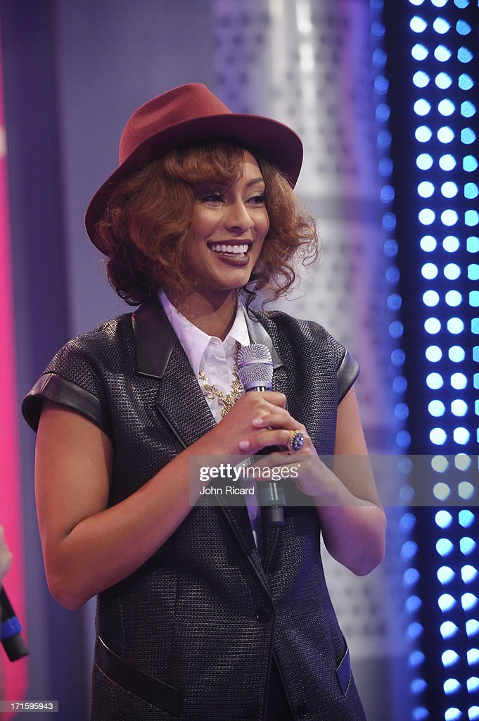 <a gi-track='captionPersonalityLinkClicked' href=/galleries/search?phrase=Keri+Hilson&family=editorial&specificpeople=4340776 ng-click='$event.stopPropagation()'>Keri Hilson</a> visits BET's '106 & Park' at BET Studios on June 26, 2013 in New York City.