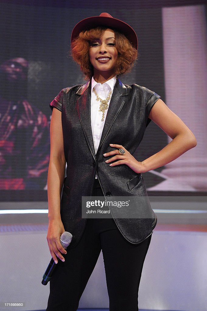 Keri Hilson visits BET's '106 & Park' at BET Studios on June 26, 2013 in New York City.