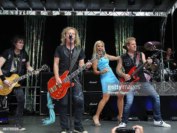 Keri Kelli Jack Blades Anna Kooiman and Bradi Gillis onstage at 'FOX Friends' All American Concert Series during 'FOX Friends' All American Concert...