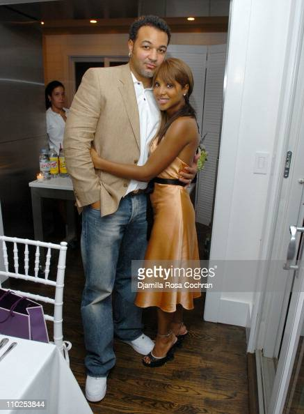 Keri Lewis and Toni Braxton during Jaci and Morris L Reid Host a Dinner in Honor of Toni Braxton Sponsored By Jana Water at The Estate of Jaci and...