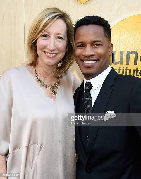 Keri Putnam Executive Director at Sundance Institute and Vanguard Award recipient Nate Parker attend the Sundance Institute NIGHT BEFORE NEXT Benefit...