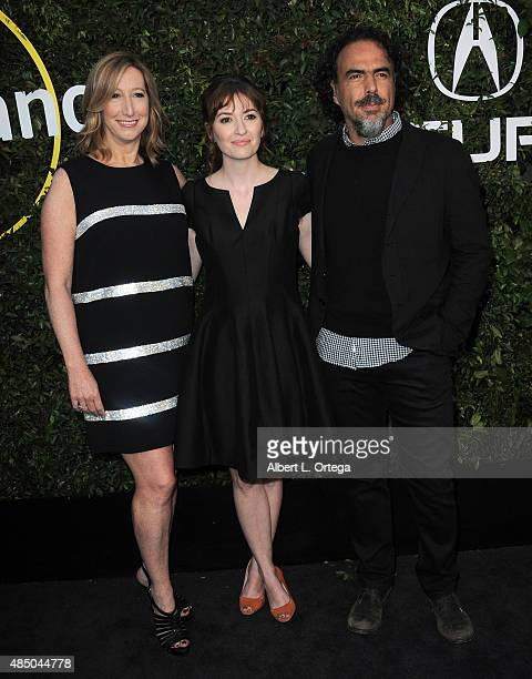 Keri Putnam Marielle Heller and Alejandro Gonzalez arrive for the 2015 Sundance Institute celebration benefit held at 3LABS on June 2 2015 in Culver...