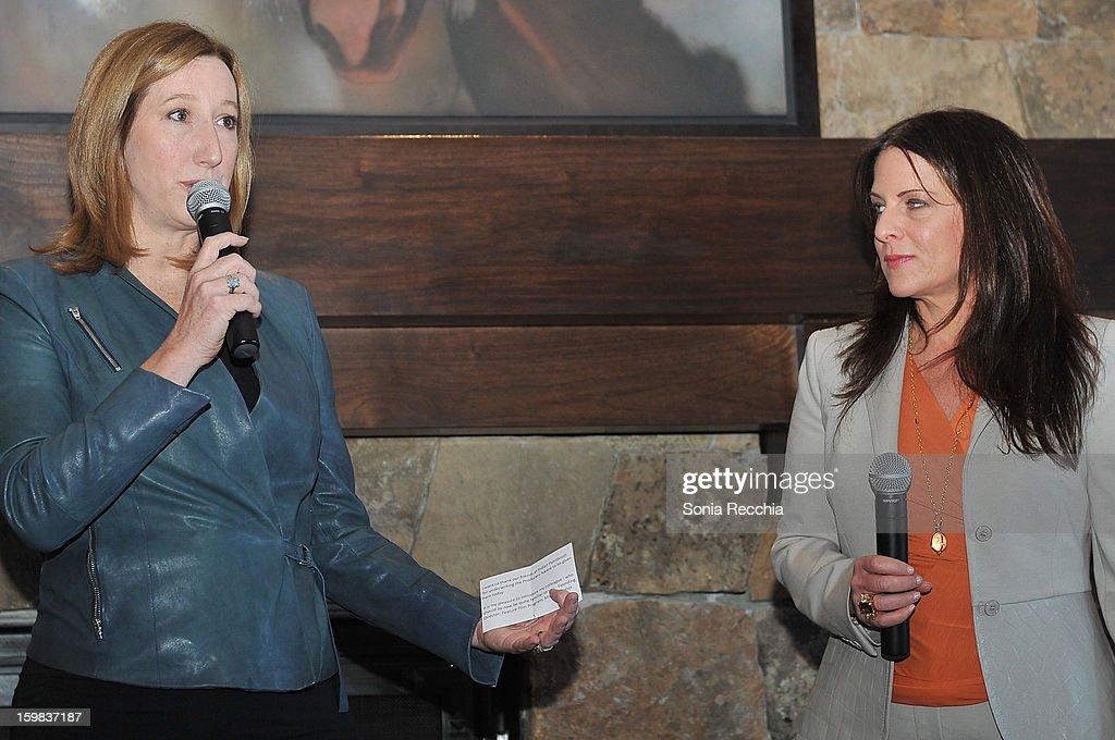 Keri Putnam, Sundance Institute Executive Director and Cathy Schulman, President of Women In Film speak at the Women at Sundance Brunch during the 2013 Sundance Film Festival on January 21, 2013 in Park City, Utah.