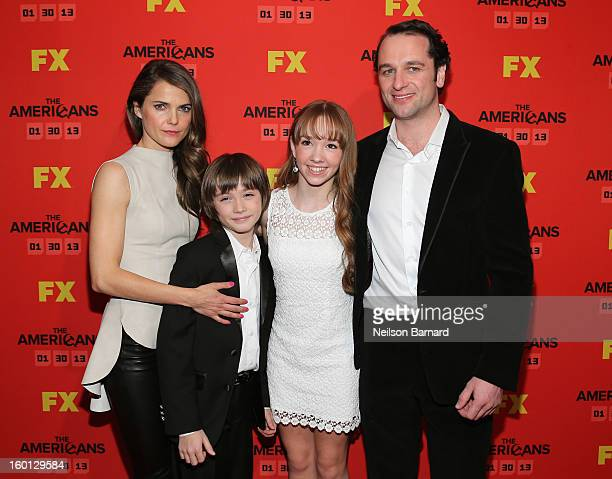Keri Russel Keidrich Sellati Holly Talor and Matthew Rhys attend FX's 'The Americans' Season One New York Premiere at DGA Theater on January 26 2013...
