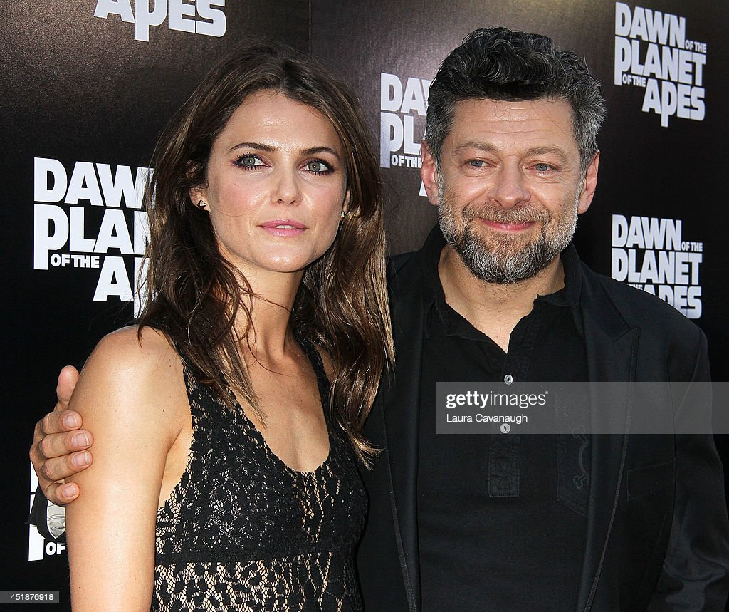 Keri Russell and Andy Serkis attend the 'Dawn Of The Planets Of The Apes' premiere at Williamsburg Cinemas on July 8 2014 in New York City