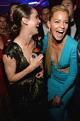 Keri Russell and Elizabeth Banks attend Rihanna's private Met Gala after party at Up Down on May 4 2015 in New York City