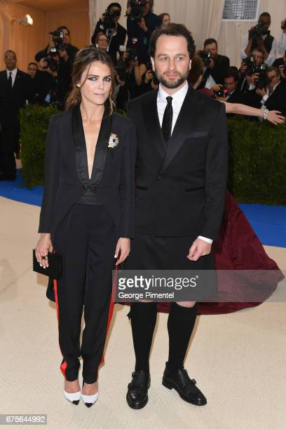 Keri Russell and Matthew Rhys attend the 'Rei Kawakubo/Comme des Garcons Art Of The InBetween' Costume Institute Gala at Metropolitan Museum of Art...
