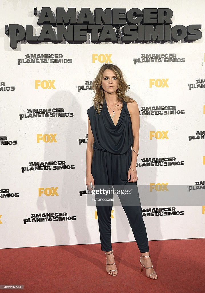 Keri Russell attends the 'Dawn of the Planet of the Apes' premiere at Capitol Cinema on July 16 2014 in Madrid Spain