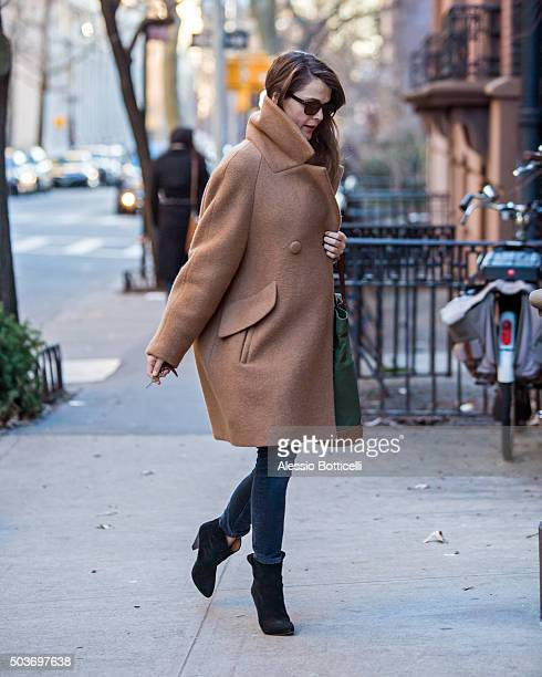 Keri Russell is seen on January 6 2016 in New York City
