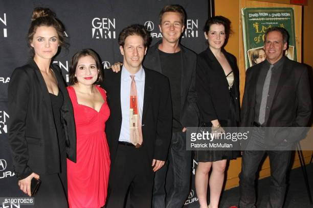 Keri Russell Lucy DeVito Tim Blake Nelson Edward Norton Melanie Lynskey and Josh Pais attend Special Screening of 'LEAVES OF GRASS' at Sunshine...