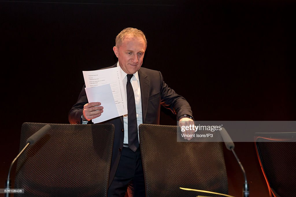 Kering CEO Francois Henri Pinault during the general shareholders meeting of the French luxury and sports clothing group Kering on April 29, 2016 in Paris, France. Kering suffered by low Gucci sales and is the last of the CAC 40 (PARIS STOCK INDEX).
