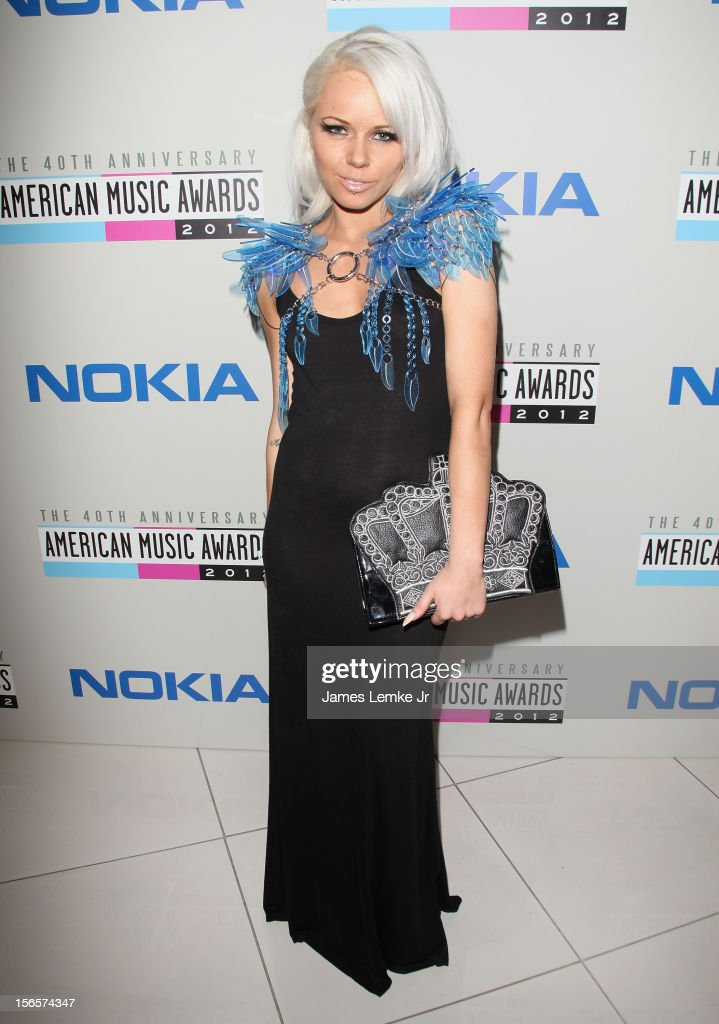 <a gi-track='captionPersonalityLinkClicked' href=/galleries/search?phrase=Kerli&family=editorial&specificpeople=5571718 ng-click='$event.stopPropagation()'>Kerli</a> attends the 40th Anniversary American Music Awards Electronic Dance Music Celebration held at the Club Nokia on November 16, 2012 in Los Angeles, California.
