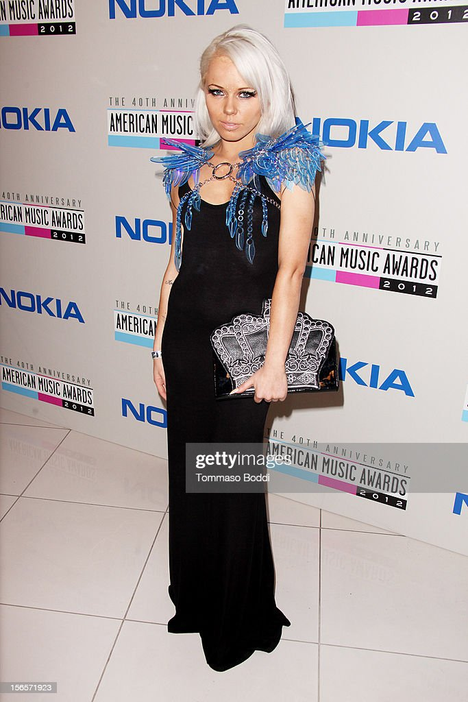 <a gi-track='captionPersonalityLinkClicked' href=/galleries/search?phrase=Kerli&family=editorial&specificpeople=5571718 ng-click='$event.stopPropagation()'>Kerli</a> attends the 40th Anniversary of American Music Awards Electronic Dance Music Celebration held at the Club Nokia on November 16, 2012 in Los Angeles, California.