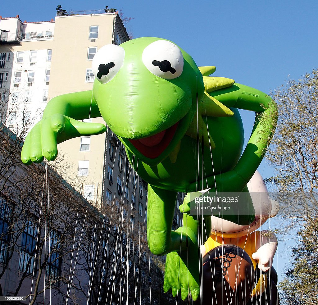 Kermit balloon floats at the 86th Annual Macy's Thanksgiving Day Parade on November 22, 2012 in New York City.