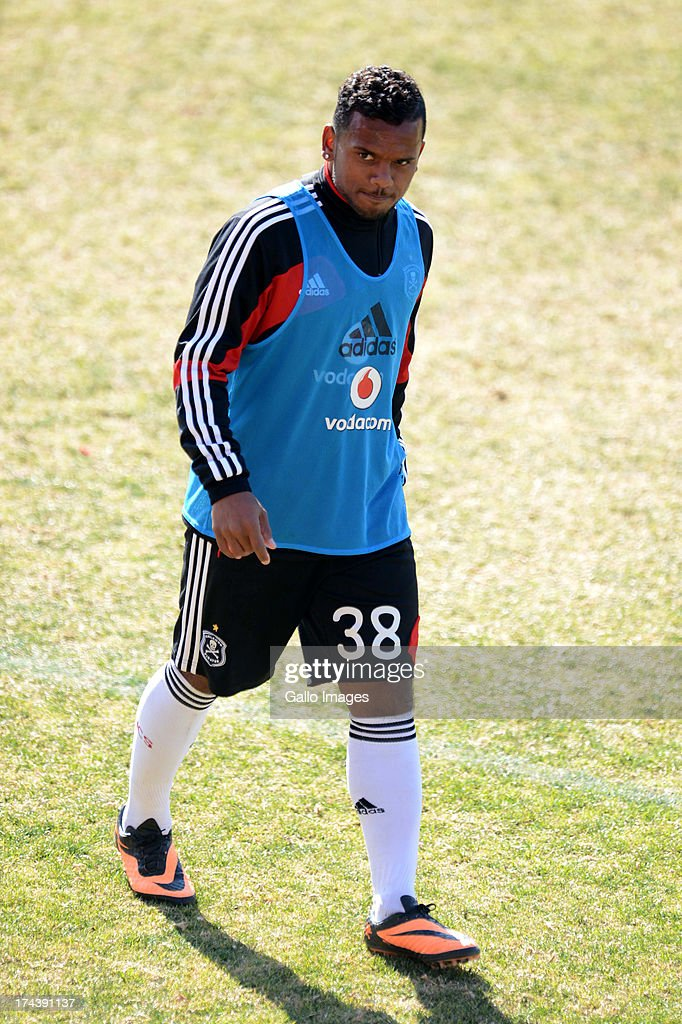 Kermit Erasmus during the Orlando Pirates media open day at Rand Stadium on July 25, 2013 in Johanesburg, South Africa.