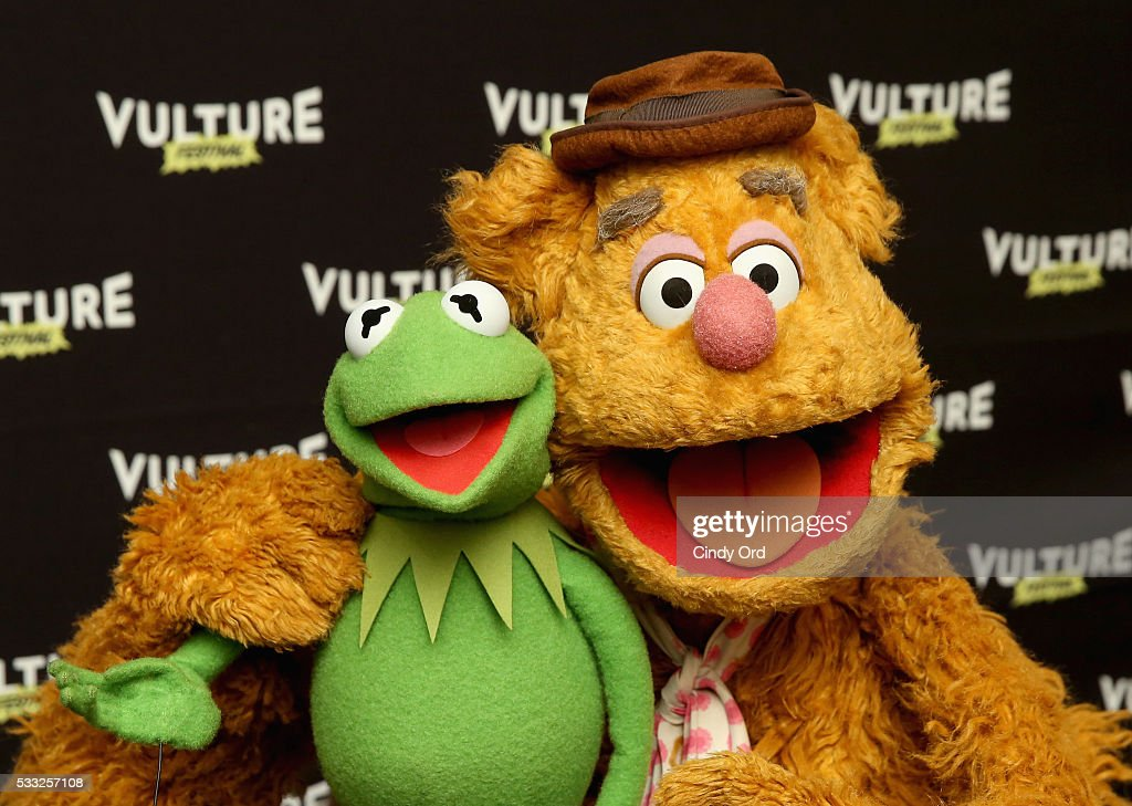 Kermit the Frog and Fozzie Bear attend the Vulture Festival at Milk Studios on May 21 2016 in New York City