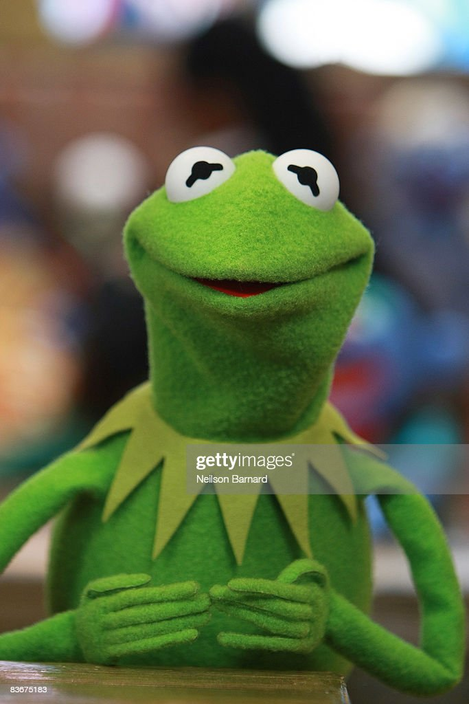 Kermit the Frog appears at the Whatnot Workshop at FAO Schwarz on November 11 2008 in New York City