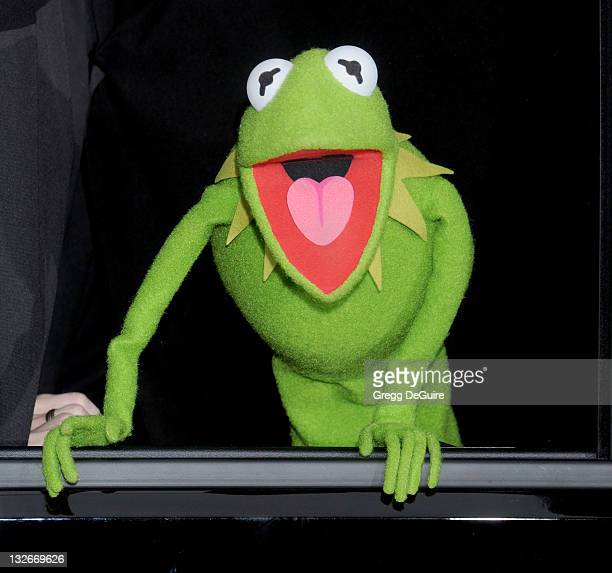 Kermit The Frog arrives at 'The Muppets' Los Angeles Premiere at the El Capitan Theatre on November 12 2011 in Hollywood California