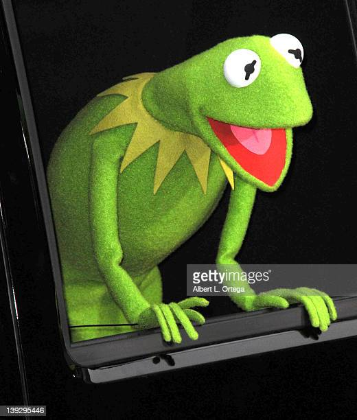 Kermit The Frog arrives for 'The Muppets' Los Angeles Premiere held at the El Capitan Theatre on November 12 2011 in Hollywood California