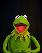 Kermit the Frog at the 'Muppets Most Wanted' Press Conference at The Beverly Hilton Hotel on March 9 2014 in Beverly Hills California