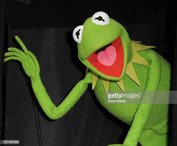 Kermit the Frog attends 'The Muppet' Los Angeles Premiere at the El Capitan Theatre on November 12 2011 in Hollywood California