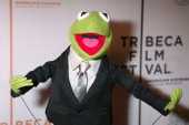 Kermit the Frog during 4th Annual Tribeca Film Festival 'The Muppets' Wizard of Oz' Premiere Inside Arrivals at Tribeca Performing Arts Center in New...