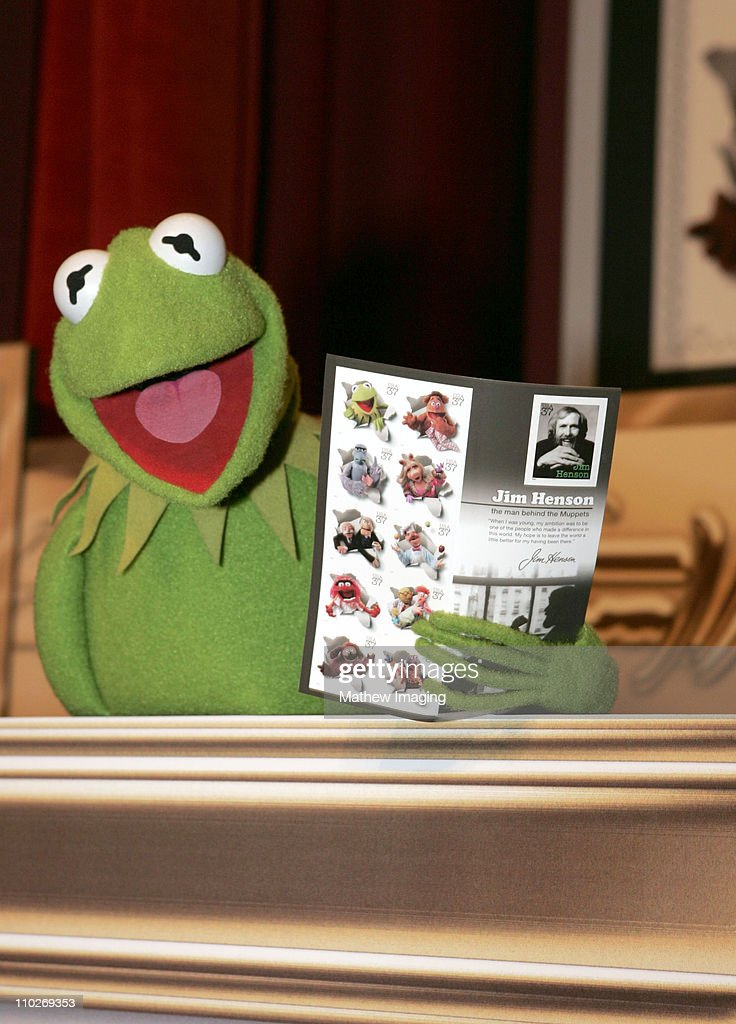 Kermit the Frog during Jim Henson Wall Sculpture Unveiling at The Academy of Television Arts Sciences Hall of Fame Plaza at Leonard H Goldenson...
