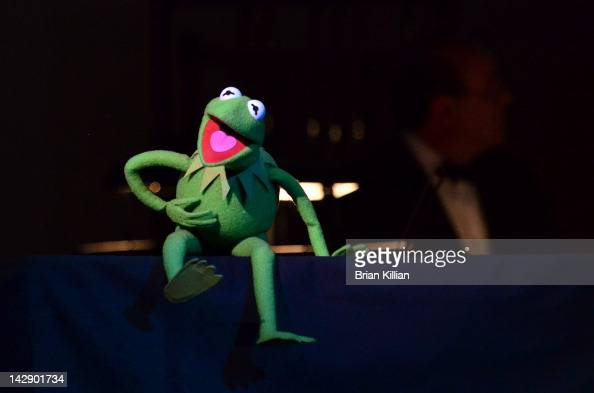 Kermit the Frog performs during The New York Pops Present 'Jim Henson's Musical World' at Carnegie Hall on April 14 2012 in New York City