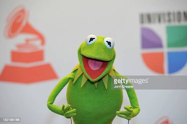 Kermit the Frog poses in the press room during the 12th Annual Latin GRAMMY Awards held at the Mandalay Bay Resort Casino on November 9 2011 in Las...