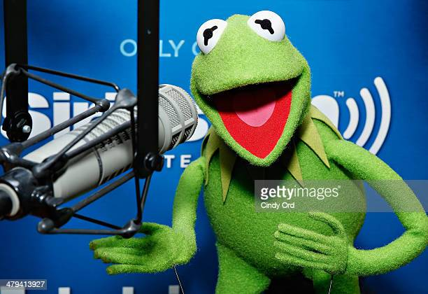 Kermit the Frog visits the SiriusXM Studios on March 18 2014 in New York City